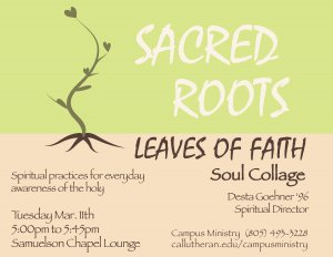 Sacred Roots, Leaves of Faith Soul Collage