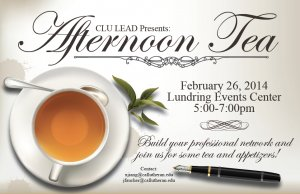 CLU LEAD: Afternoon Tea