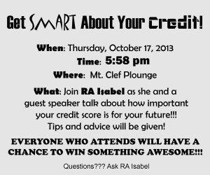 Get SMART about your CREDIT!