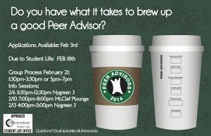Peer Advisor Info Session #1