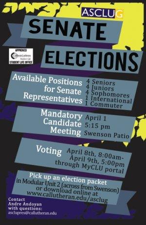 Mandatory Senate Election Candidates Meeting
