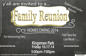 Student Life Presents a Homecoming Family Reunion
