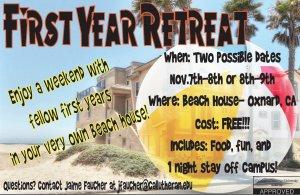 First Year Retreat