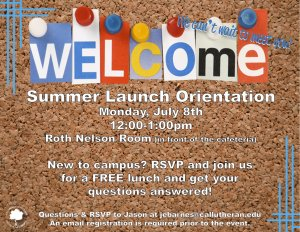 Summer Launch Orientation