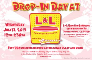 Drop-In Day at L&L Hawaiian Barbecue