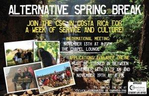 Alternative Spring Break Applications