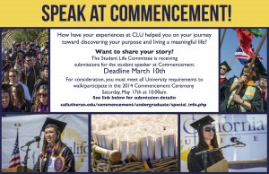 Commencement Speaker Submissions