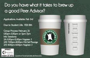 Peer Advisor Info Session #1