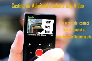 Casting for Admitted Students Day Video