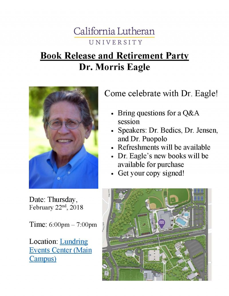 Dr. Morris Eagle's Book Launch and Retirement Party