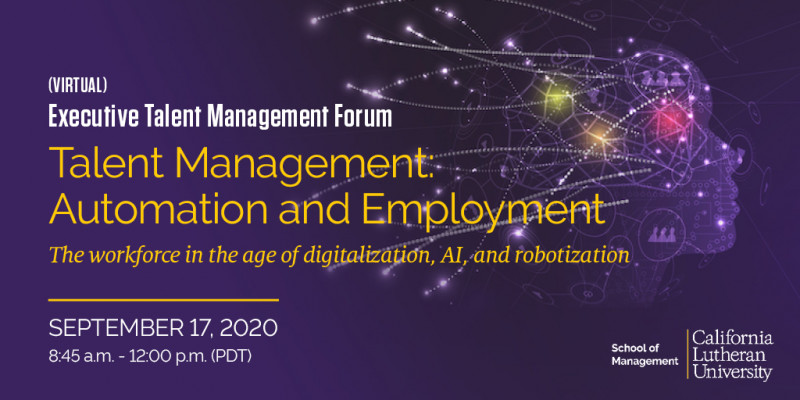 The Future of Work: Automation and Employment - The workforce in the age of digitalization, AI, and robotization (Virtual)