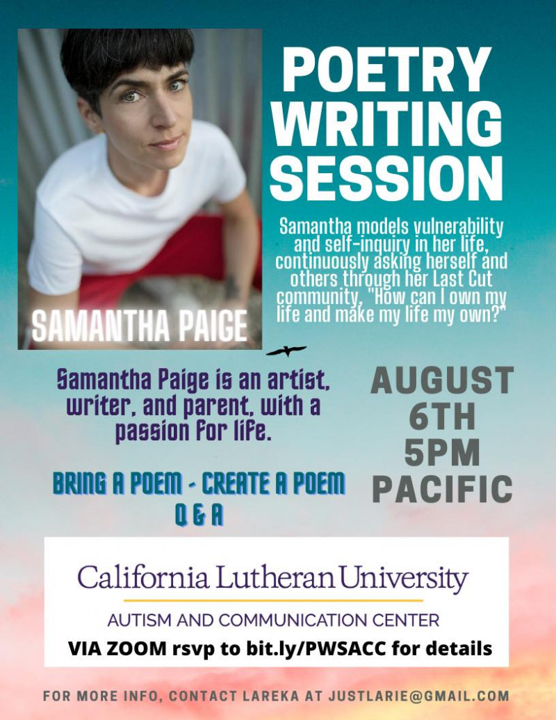 Poetry Writing Session with Samantha Paige