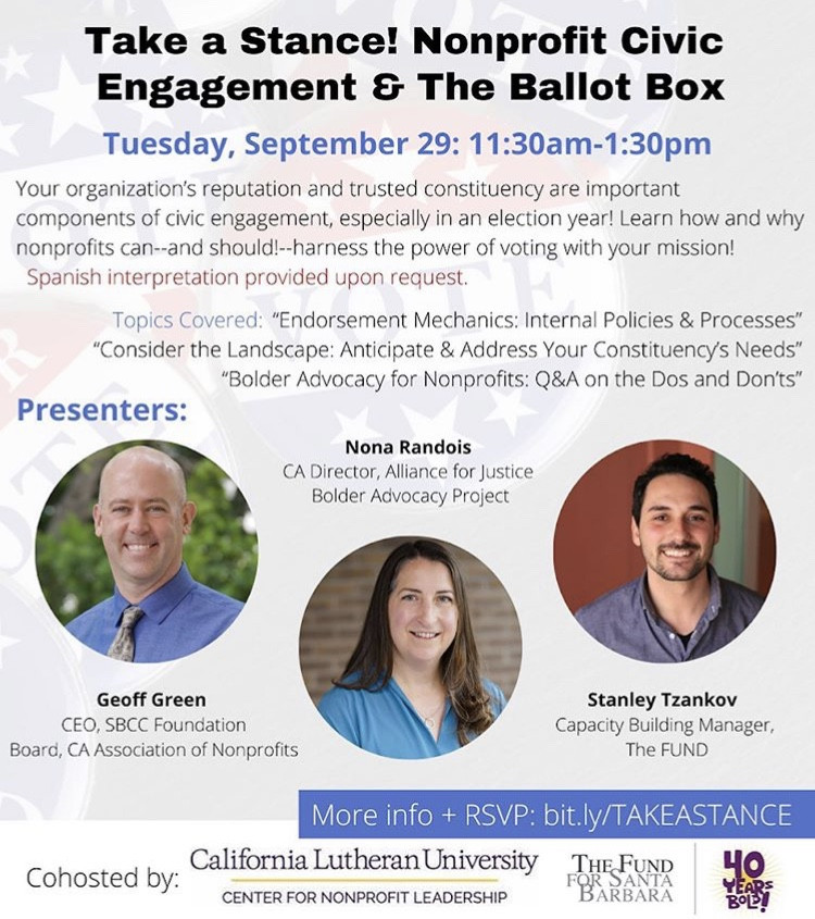 Take a Stance! Nonprofit Civic Engagement and The Ballot Box