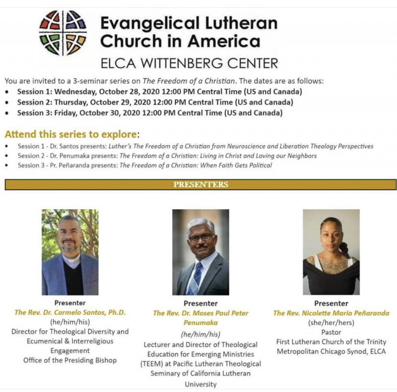 Evangelica Lutheran Church in America ELCA WITTENBERG CENTER