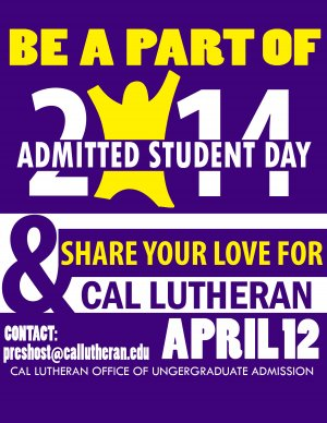 Admitted Student's Day Volunteers Needed!