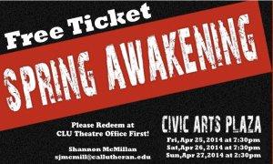 Spring Awakening Ticket Give-Away