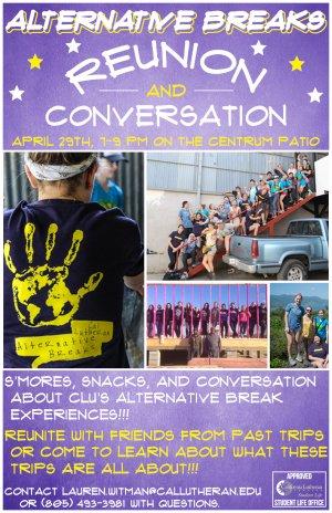 Alternative Breaks Reunion and Conversation