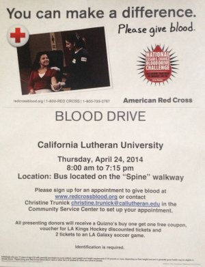 Green Week: Blood Drive