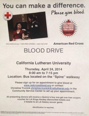 Green Week: Blood Drive