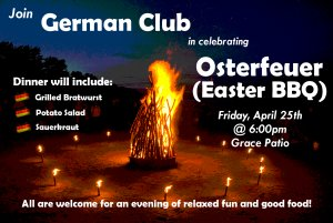 German Club's Osterfeuer/Easter BBQ