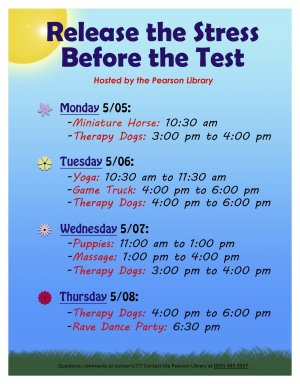 Release the Stress Before the Test - Therapy Dogs!