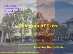 Seasons of Love aCLUpella Concert