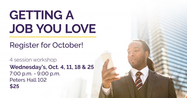 Getting A Job You Love - October Workshop