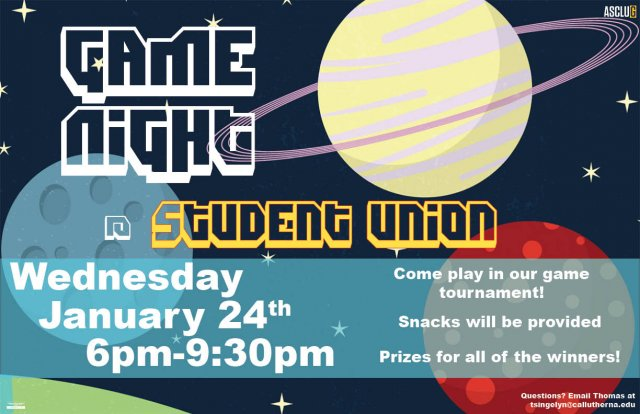 ASCLUG Presents: Game Night in the Student Union
