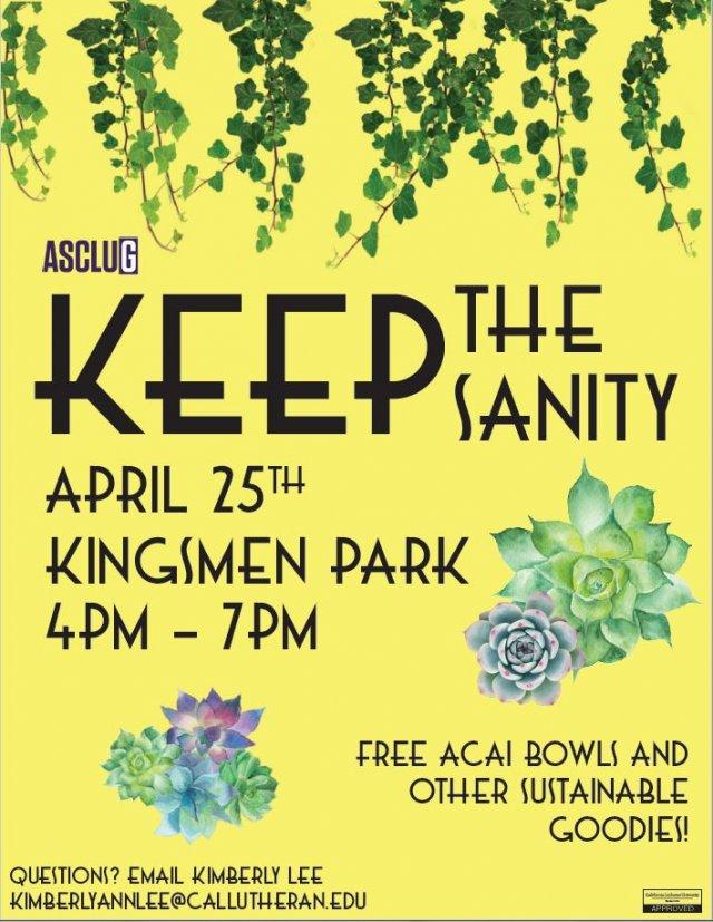 ASCLUG Presents: Keep the Sanity