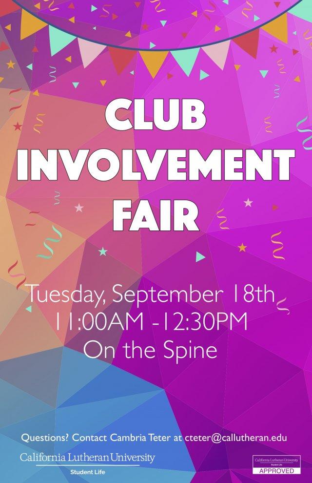 Club Involvement Fair