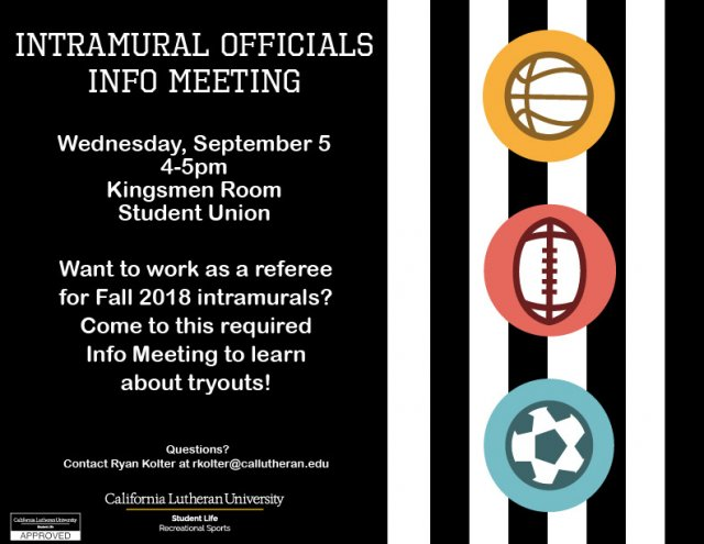 Intramural Officials Info Meeting
