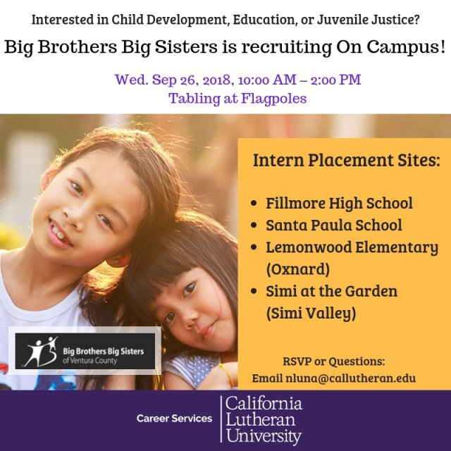 On Campus Recruiting: Big Brothers Big Sisters Interns