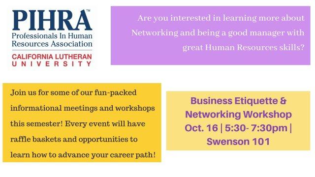 Business Etiquette & Networking Workshop