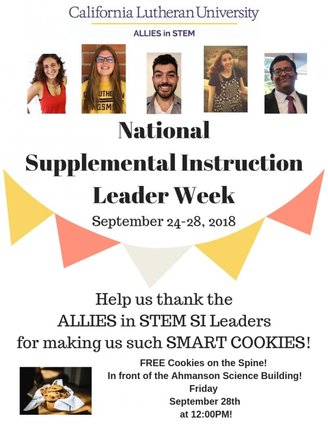 National Supplemental Instruction Leaders Appreciation Week