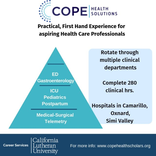 Recruiting on campus: COPE Health Scholars