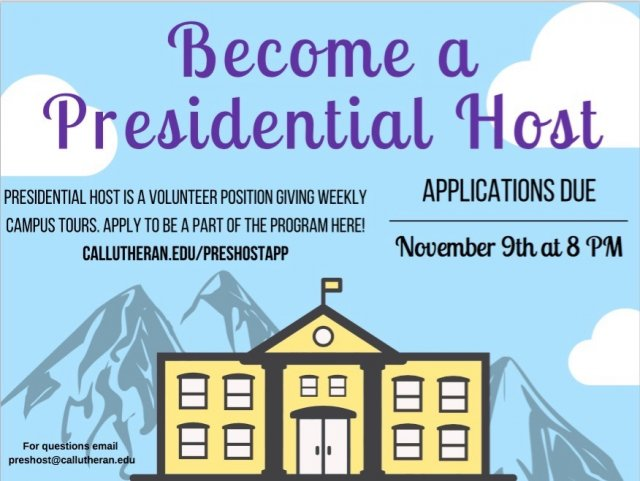 Apply to be a Presidential Host