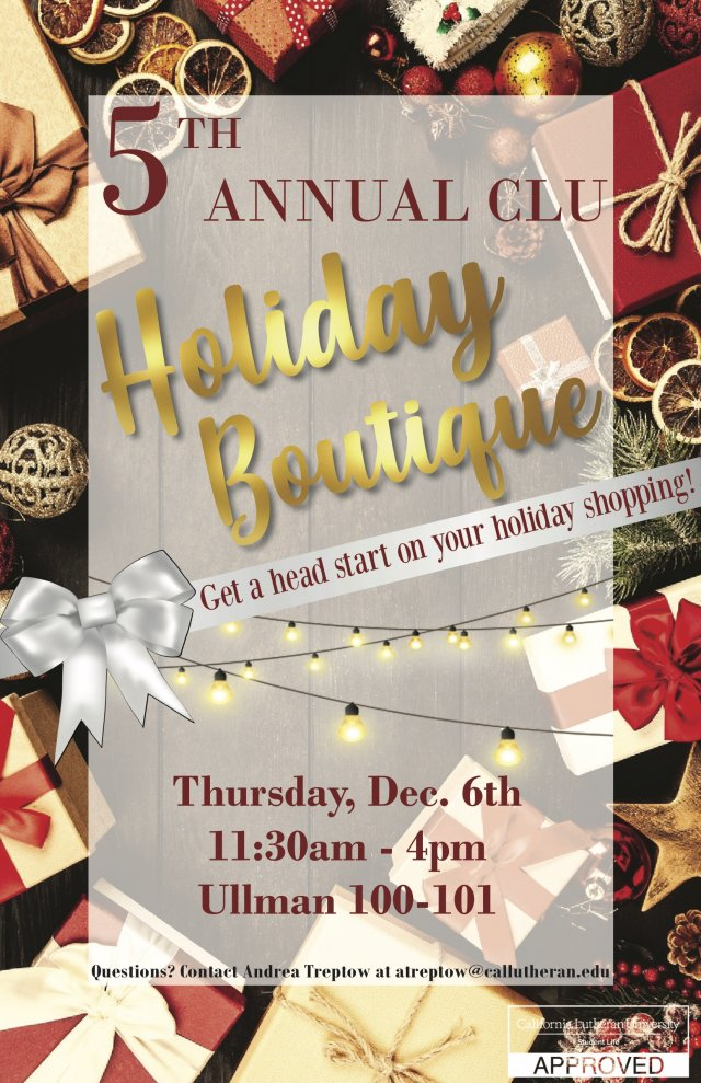 5th Annual CLU Holiday Boutique