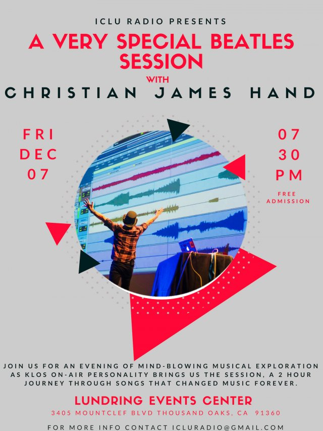 iCLU Radio Presents, A Very Special Beatles Session with Christian James Hand