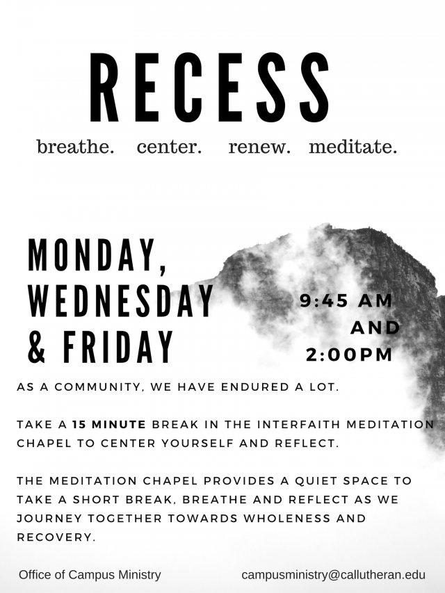 Recess Meditation Moments