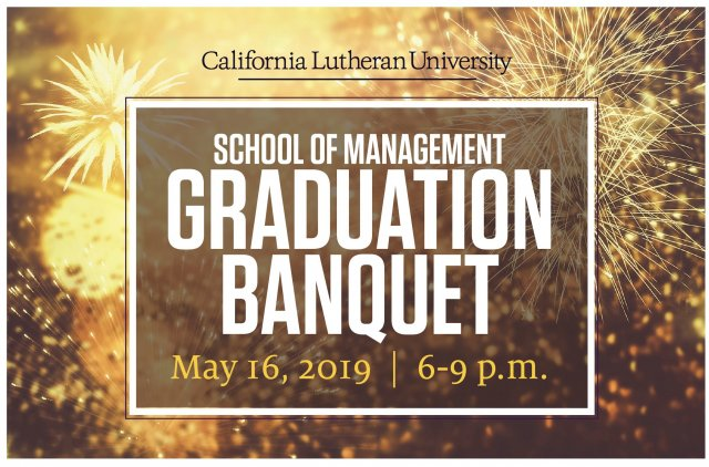School of Management Graduation Banquet 2019