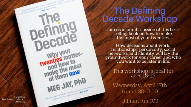 """The Defining Decade"" Book Group"