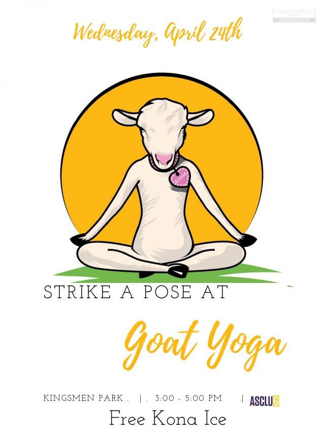 ASCLUG Presents: Goat Yoga