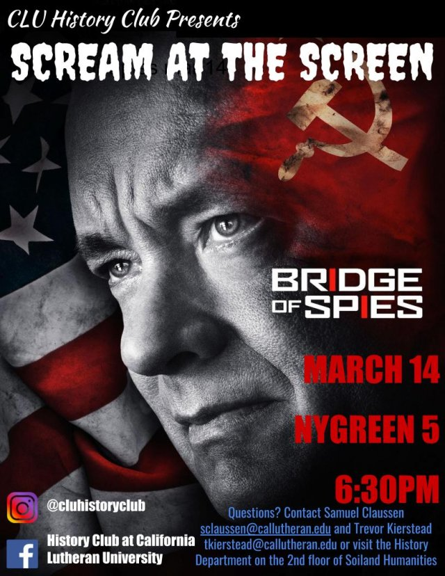 History Club: Scream at the Screen! Bridge of Spies