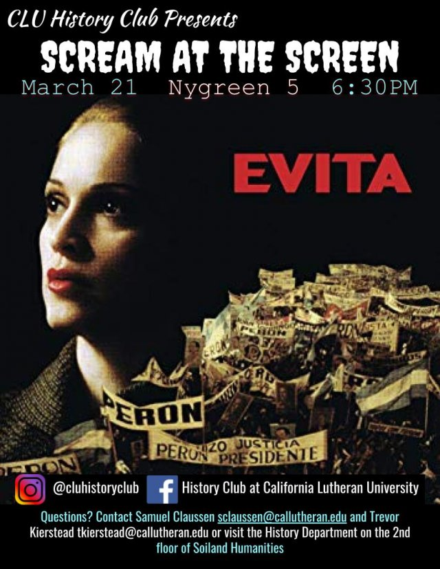 History Club: Scream at the Screen! Evita