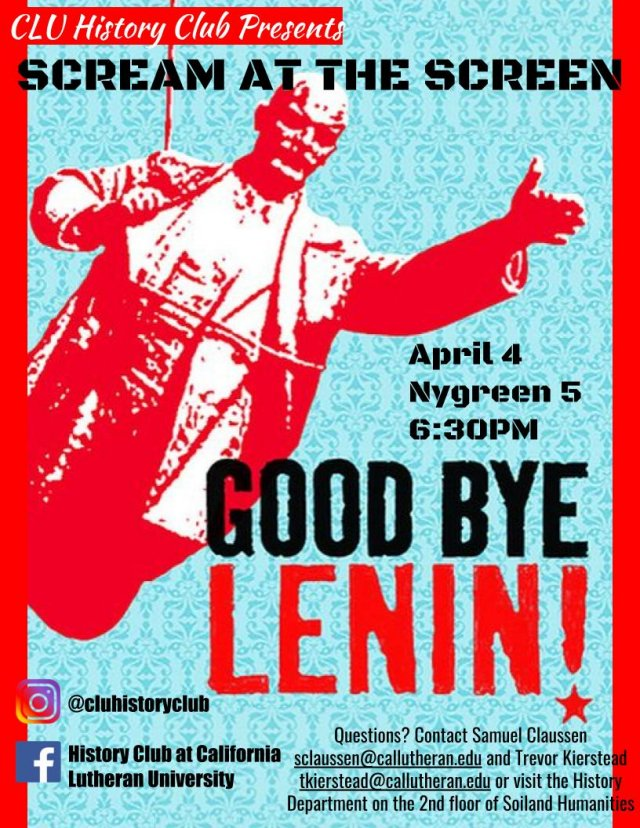 History Club: Scream at the Screen! Goodbye Lenin