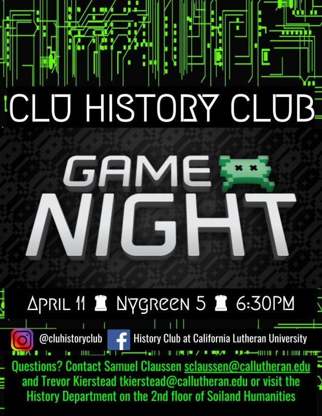 History Club: Game Night!