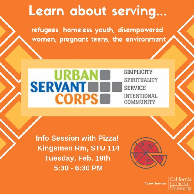 Recruiting on campus: Urban Servant Corps