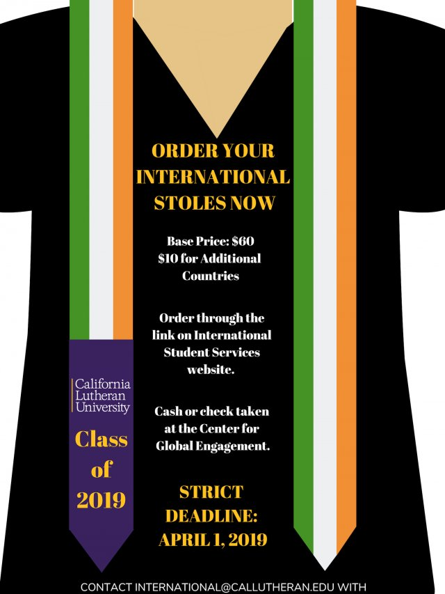 Order Your International Stoles Now!