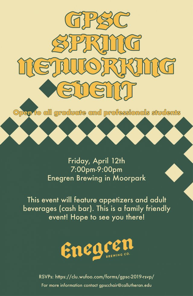 GPSC Spring Networking Event