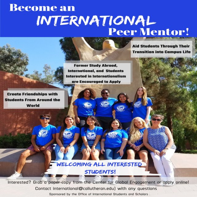 Apply to Become an International Peer Mentor